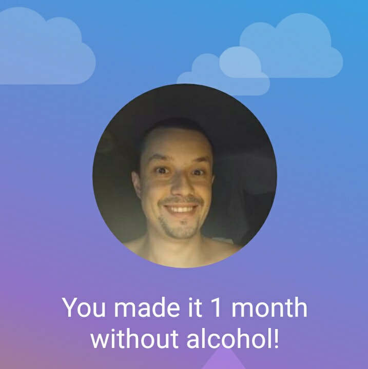 1 month milestone without alcohol